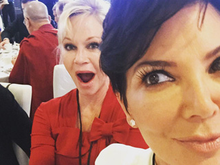 Kris Jenner and Melanie Griffith Take Selfie with Dalai Lama
