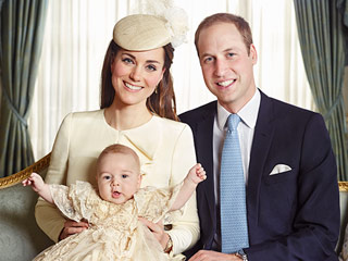 Then & Now: Prince George's vs. Princess Charlotte's Christening Portraits