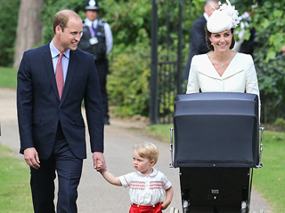 First Photos of the Royal Family of 4! Princess Kate, Prince William, Prince George and Princess Charlotte Enter Church for Christening