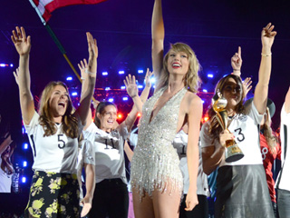 Taylor Swift Adds the US Women's Soccer Team to Her Impressive Squad During Concert Stop in New Jersey