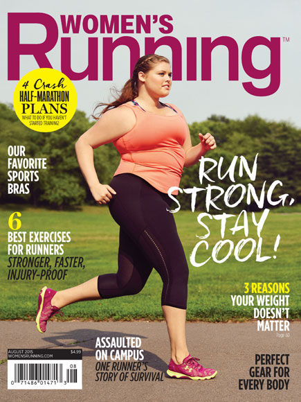 Plus-Size Model Chosen for Women's Running Cover, Internet Cheers| Diet & Fitness, Fitness, Fitness & Health Fads, Health, Bodywatch, Around the Web, Real People Stories