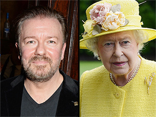 Ricky Gervais Defends Queen Elizabeth After Photos Surface of Her Giving the Nazi Salute as a Young Girl