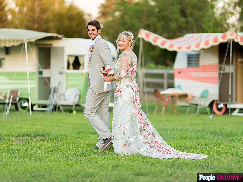 Jennie Garth wedding Dave Abrams