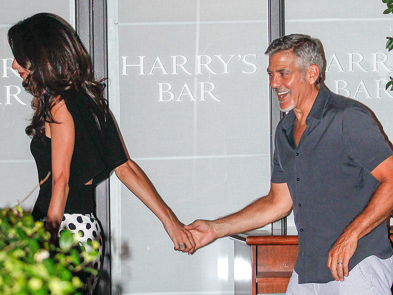 Sun-Kissed and Smitten! George and Amal Clooney's Italian Love-Fest Continues (PHOTO)| Couples, Vacation and Travel, Amal Alamuddin, George Clooney