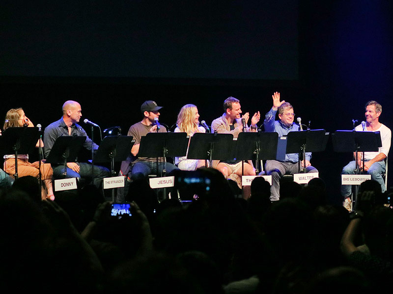 Olivia Munn Steals Jennifer Lawrence's Lines, Michael Fassbender Gets 'Too Method' During The Big Lebowski Live Table Read| The Big Lebowski, Movie News, Dennis Quaid, Jason Reitman, Jennifer Lawrence, Mae Whitman, Martin Starr, Michael Fassbender, Mike Judge, Olivia Munn, Patton Oswalt, T.J. Miller