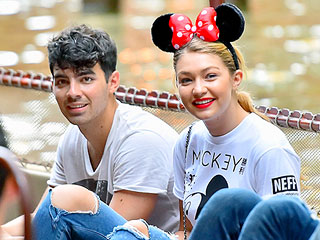 Gigi Hadid Accepts a Proposal from Mickey Mouse While Spending the Day at Disneyland with Joe Jonas