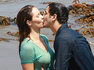 Mixing Work with Play! Katharine McPhee Kisses Boyfriend and Costar Elyes Gabel on Scorpion Set