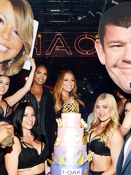 Mariah Carey Parties in Vegas Without Boyfriend James Packer – but His Face Does Makes an Appearance| Caught in the Act, Mariah Carey