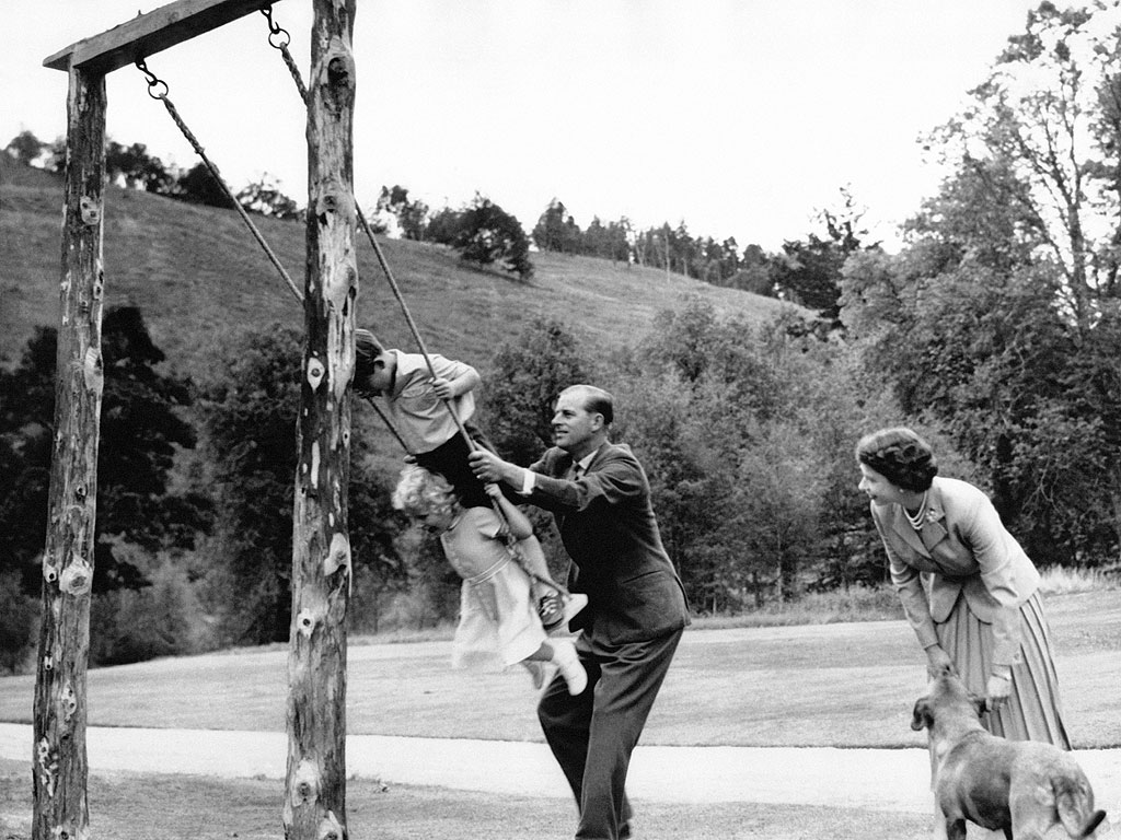 Young Prince Charles During a Trip to Balmoral