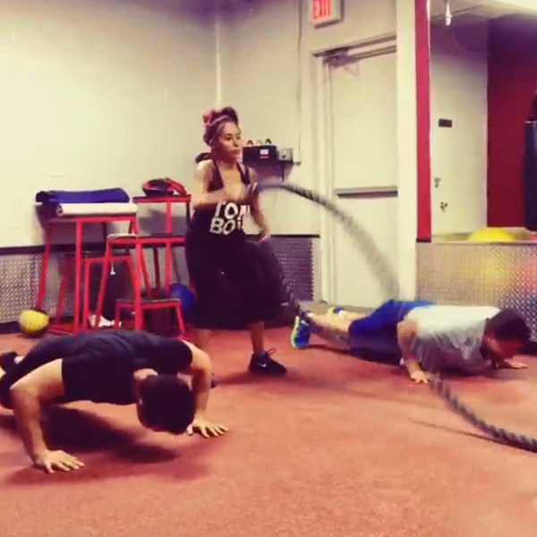 Snooki Works Out with Kevin Jonas