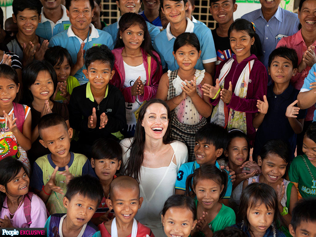 Angelina Jolie Visits Cambodia to Check In on Charities, Work on New Film