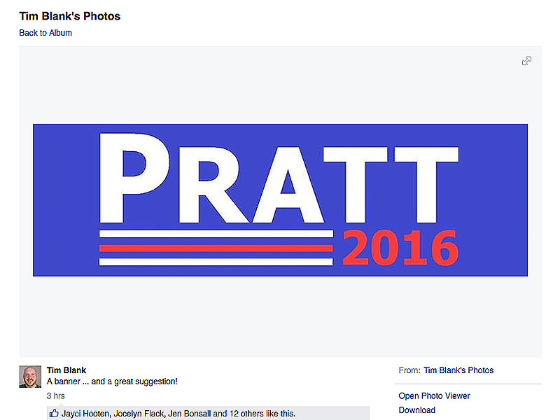 Chris Pratt Launches Facebook Competition to Create His Next Header Photo, Hilarity Ensues: See the Meme-Worthy Pics| Guardians of the Galaxy, Jurassic World, The LEGO Movie, Parks and Recreation, Movie News, Chris Pratt