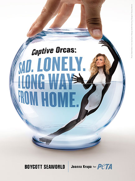 Joanna Krupa Paints Her Body for Anti-Seaworld PETA Ads  Animals & Pets, The Real Housewives of Miami, Bodywatch