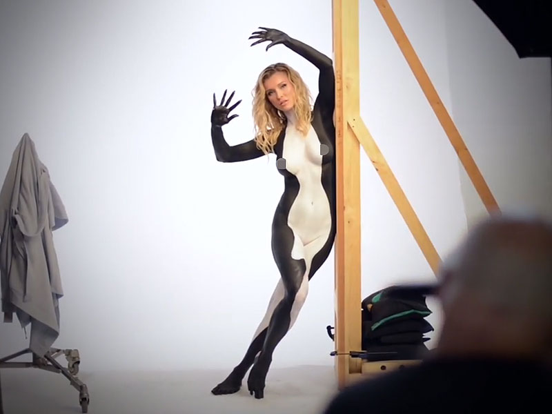 Joanna Krupa Paints Her Body to Raise Awareness About Captive Orcas