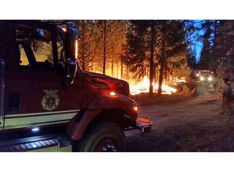 Northern California Wildfire Leaves Four Firefighters Injured