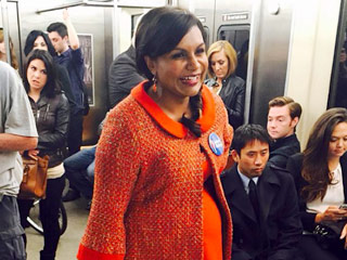 See a 'Pregnant' Mindy Kaling's Stylish Baby Bump on The Mindy Project
