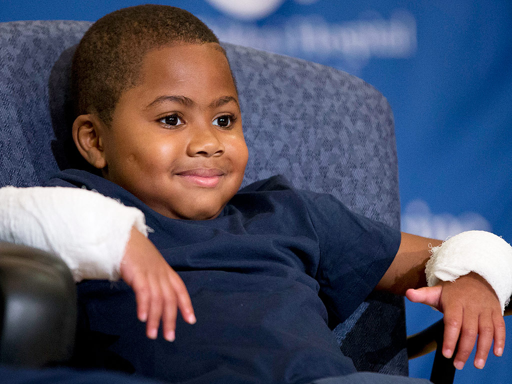 8-Year-Old Who Received Double Hand Transplant Says He Can't Wait to Hold His Little Sister  Medical Conditions, Real People Stories