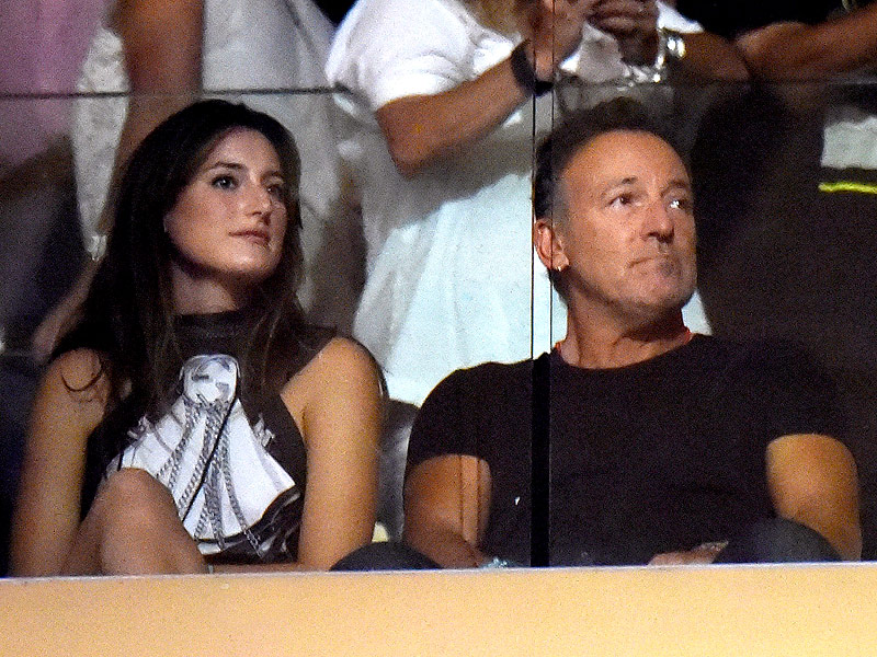 Bill and Hillary Clinton Get a Bono Shout-Out While Attending U2 Concert in NYC  U2, Bill Clinton, Bono, Bruce Springsteen, Hillary Rodham Clinton