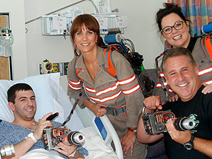 Who Ya Gonna Call? Ghostbusters Cast Comes in Costume to See Young Patients at a Boston Hospital