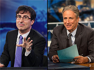 FROM EW: John Oliver Says 'It's Hard to Overstate' Jon Stewart's Influence on His Post-Daily Show Career