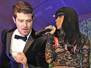 FROM EW: Robin Thicke and Nicki Minaj Are 'Back Together' with New Collaboration