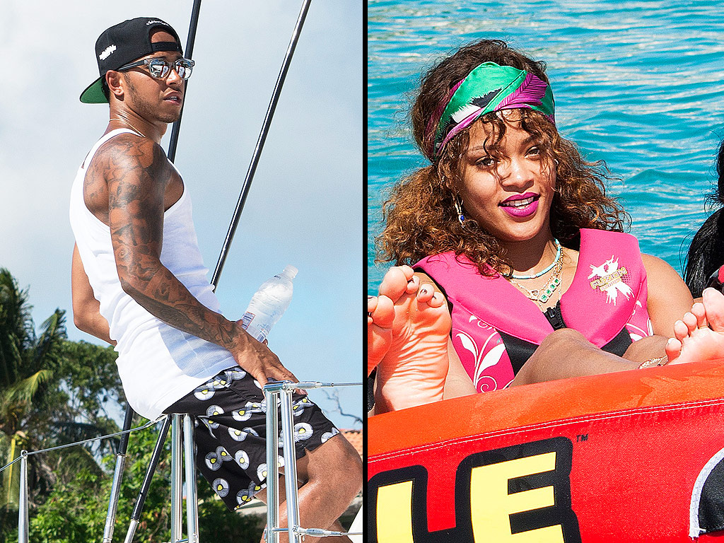 Rihanna and Lewis Hamilton Enjoy Barbados Vacay With Pals