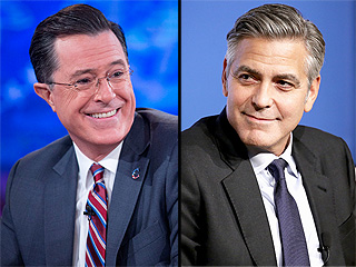 Stephen Colbert's First Late Show Guest Is ... George Clooney!