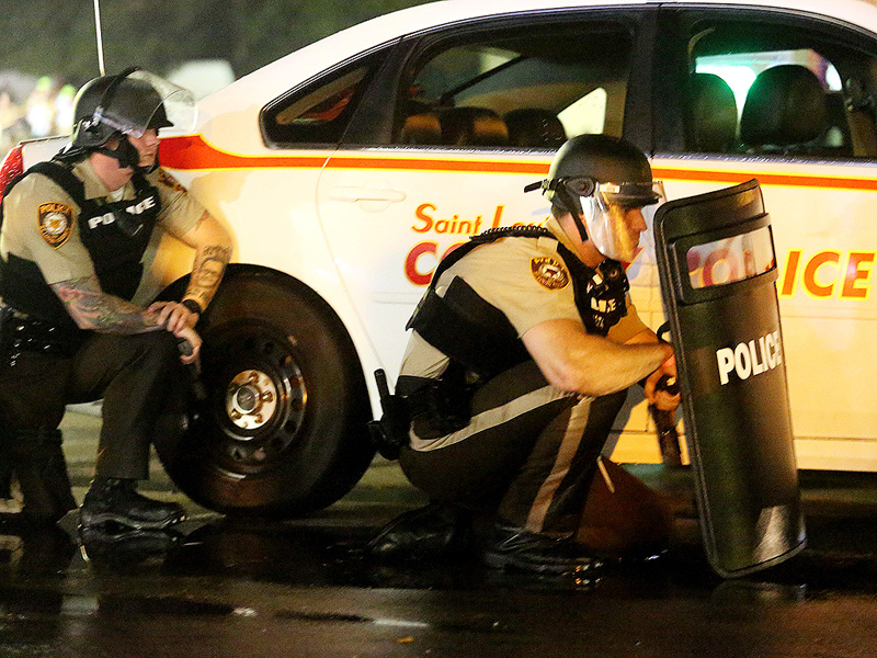 Man Shot by Police in Ferguson During Protests over 1-Year Anniversary of Michael Brown Killing| Crime & Courts, Shootings, True Crime