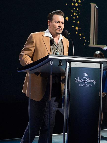 Johnny Depp at Disney's D23 Expo to Receive Award