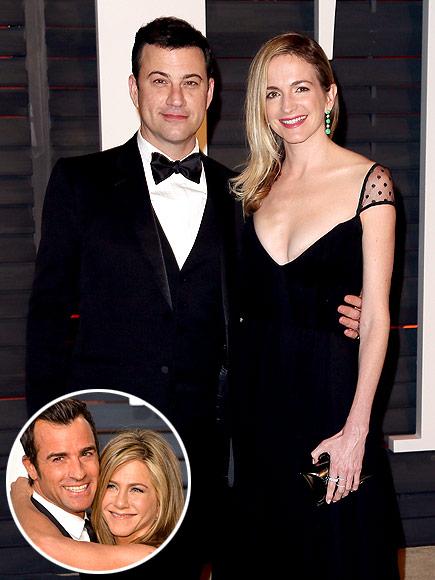 Jimmy Kimmel, Molly McNearney Join Jennifer Aniston, Justin Theroux's Honeymoon
