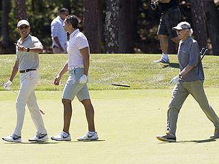 That's Pretty, Pretty Cool! Obama Tees Up with Larry David During Martha's Vineyard Vacation