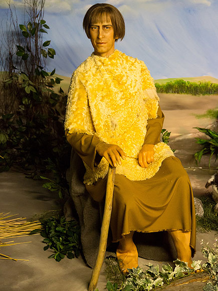 Prince Charles and Prince Philip as Biblical Wax Figures