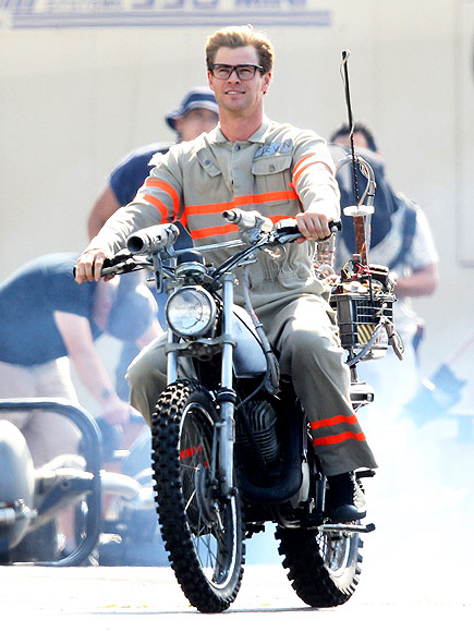 Chris Hemsworth Calls His Adorable Ghostbusters Character a 'Big, Dumb Puppy Dog' in Newly Released Footage  Ghostbusters, Movie News, Chris Hemsworth