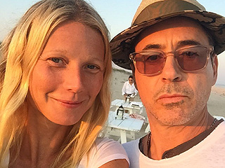 Tony Stark & Pepper Potts Hit the Beach! Iron Man Pals Gwyneth Paltrow & Robert Downey Jr. Pose for a Sunny Selfie