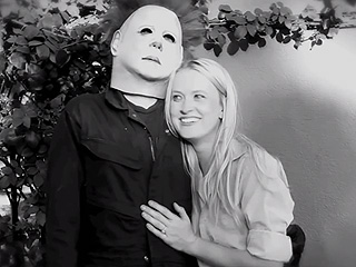FROM EW: Guy Stages Killer Marriage Proposal as Halloween Slasher Michael Myers