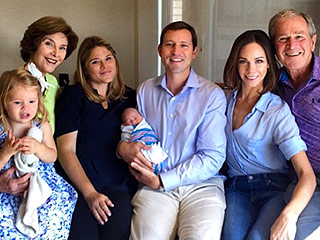 Laura Bush Shares Photo of the Entire Bush Family with New Addition Poppy