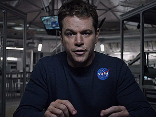 Matt Damon Talks The Martian in PEOPLE's Exclusive Instagram Video Chat