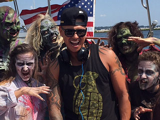 Gym, Tan, Zombies? Pauly D Makes a Special Appearance on the Set of Sam & Mattie's Teen Zombie Movie