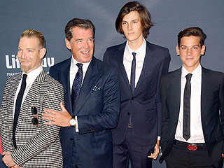 Pierce Brosnan and His 3 Dashing Sons Enjoy a Family Night Out at No Escape Premiere