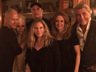 Lady Gaga, John Travolta and Ryan Murphy Spend Saturday Night Hanging at Barbra Streisand's House