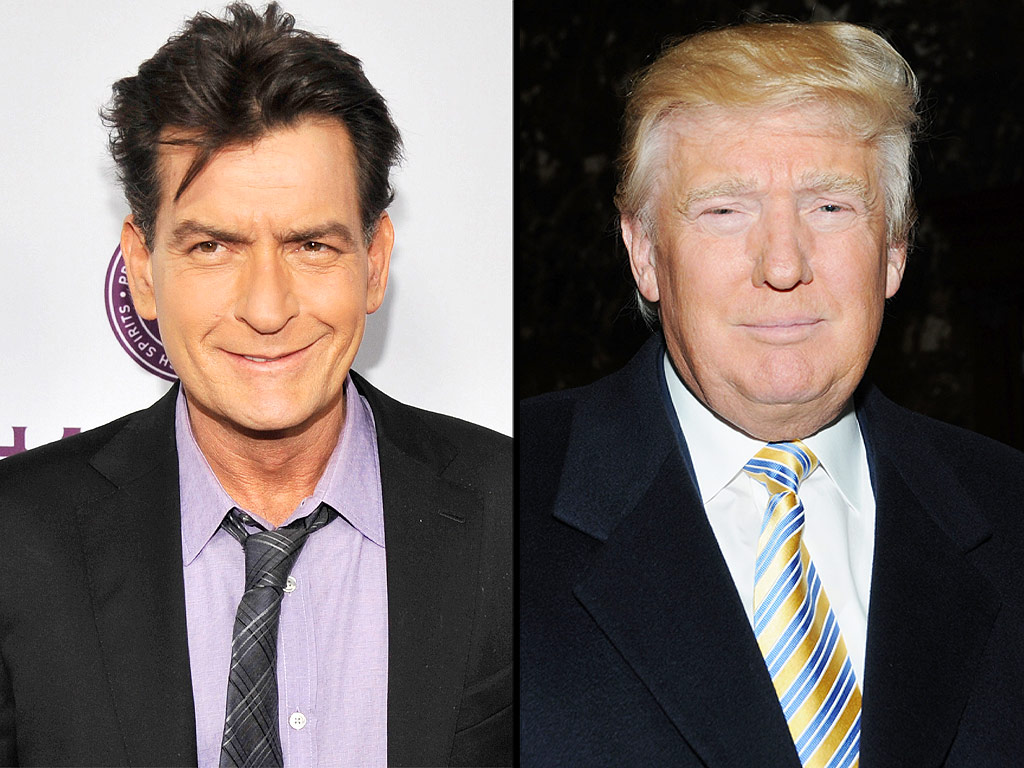 Charlie Sheen Wants to Be Donald Trump's Vice President