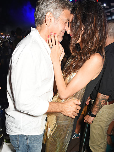 George & Amal Clooney, the Gerbers at the Ibiza launch of their Casamigos tequila August 23, 2015 Clooney-amal-02-435