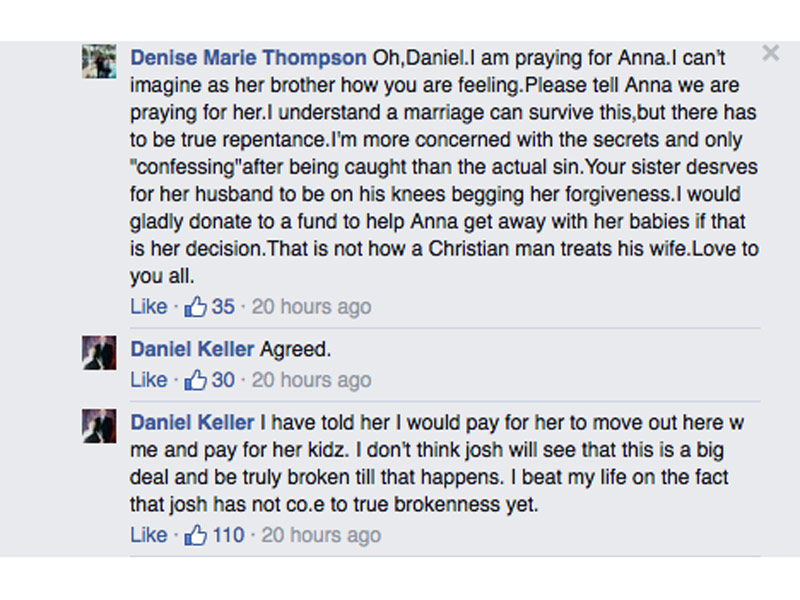 Anna Duggar's Brother Bashes Cheating Husband Josh on Facebook: 'I Won't Stop Trying to Get That Pig out of Our Family'| Sex Scandals, 19 Kids and Counting, Celebrity Scandals, TV News, Anna Duggar, Joshua Duggar, The Duggars