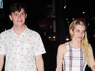 Emma Roberts and Evan Peters Are All Smiles After Dinner in West Hollywood