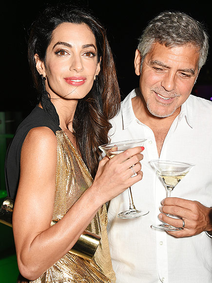 George and Amal Clooney Join Cindy Crawford and Rande Gerber in Ibiza for a Tequila-Related Work Trip: See the Glam Pics!| Amal Alamuddin, Cindy Crawford, George Clooney, Rande Gerber