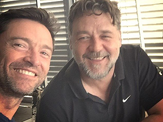 Jean Valjean & Javert's 'Mean BBQ'! Hugh Jackman Catches Up with Les Misérables Pal Russell Crowe