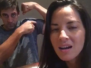 FROM EW: Olivia Munn and Aaron Rodgers Channel Mariah Carey and The Princess Bride in Hilarious Dubsmash Videos