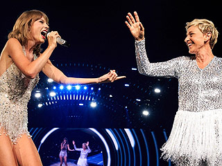 'You Oughta Know' Who Joined Taylor Swift Onstage Last Night (Alanis Morissette and a Tutu-Clad Ellen DeGeneres)