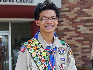 17-Year-Old Spends Six Years Earning Every Badge Offered by the Boy Scouts of America