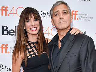 Sandra Bullock Reunites with Gravity Costar George Clooney at TIFF!